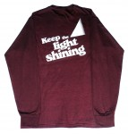 Maroon LS Tee Shirt-Rear View